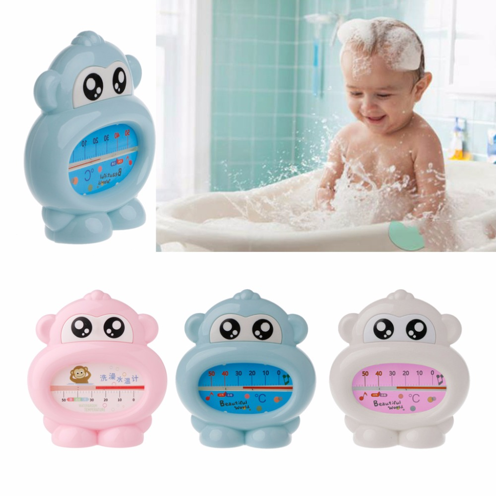 Water Thermometer Baby Bathing Monkey Shape Temperature Infants Toddler Shower