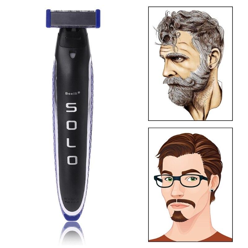 USB Rechargeable Men Edges Razor Nose Hair Trimmer Multifunction Trims Full Kit