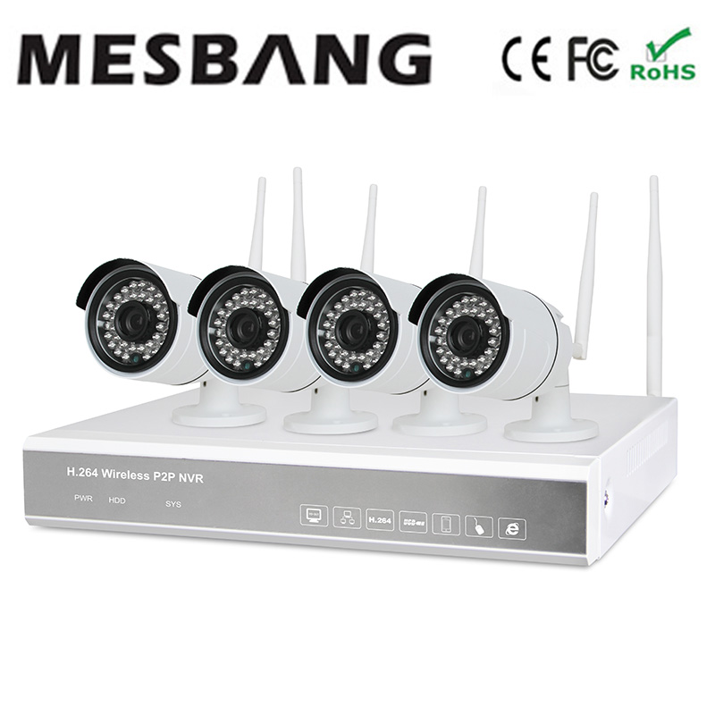 цены  Mesbang build in 1TB HDD 720P 4ch wireless security camera system one key to set up easy installation free shipping fast