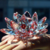 80mm Quartz Crystal Lotus Flower Crafts Glass Paperweight Fengshui Ornaments Figurines Home Wedding Party Decor Gifts Souvenir 4