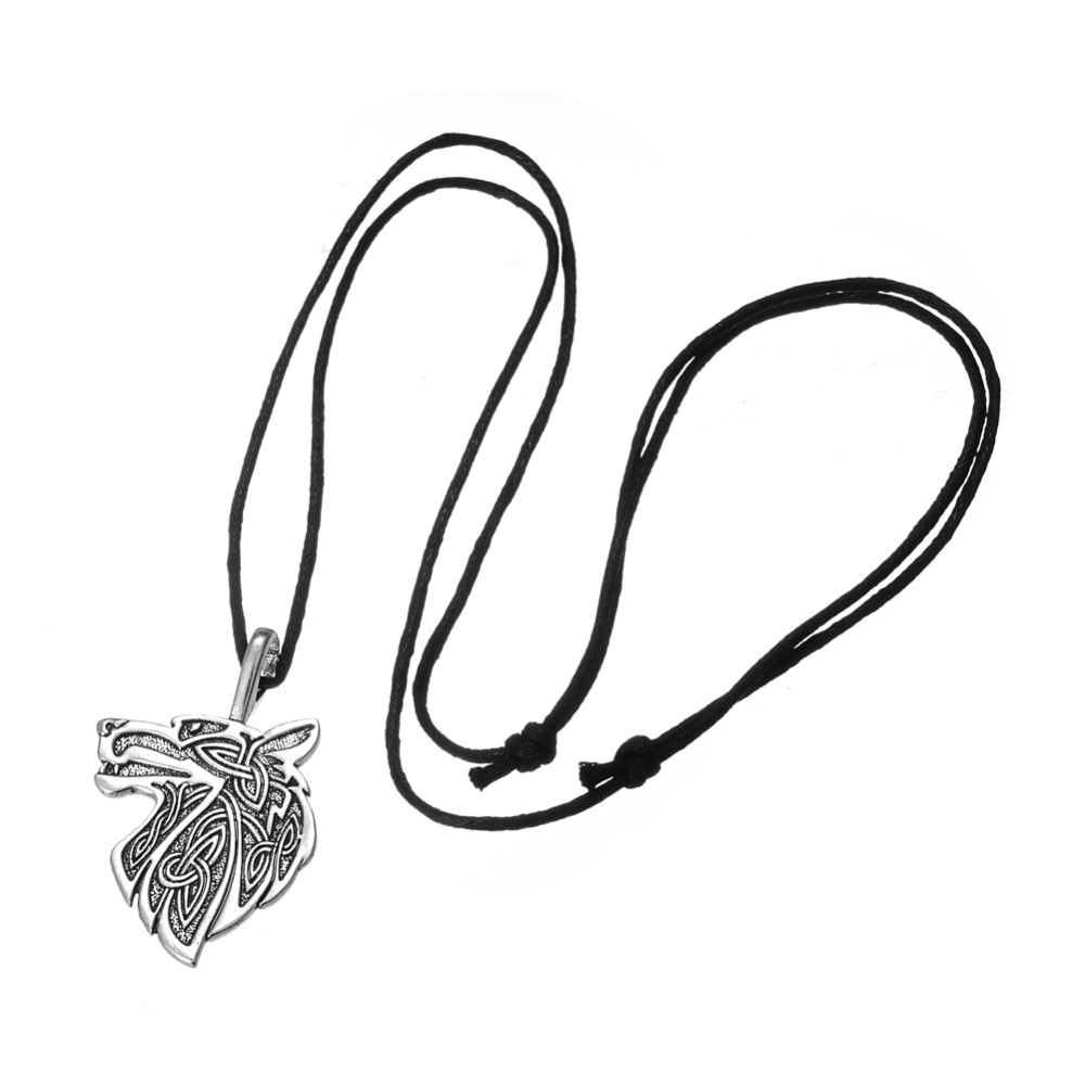 Dawapara Viking necklace Fox Triquetra Fenrir Animal Teen Wolf Necklace men Fashion Jewelry pendant Supernatural Amulet Knot 26