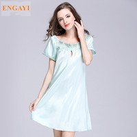 SQ022 S 4XL New Sexy Robes Bathrobe For Women Silk Satin Nightgown Nightwear High Grade Night
