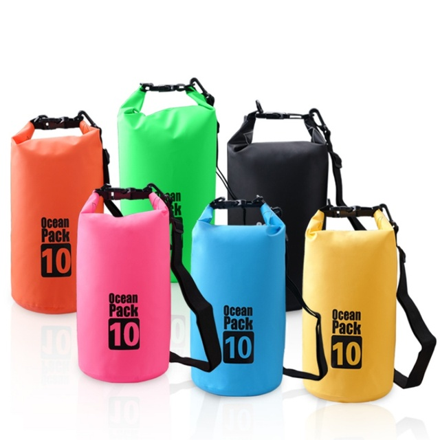 Outdoor Dry Bag Swimming Pvc Waterproof Bags Water Resistant Upstream Pouch For Kayak Rafting