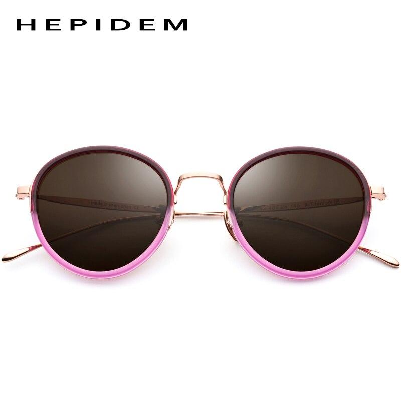 H853 Acetat Männer 4 1 2 Retro Frauen Reine Polarisierte B Sonnenbrille Oculos Titan Vintage Gafas 3 Spiegel Runde ExqxOwF