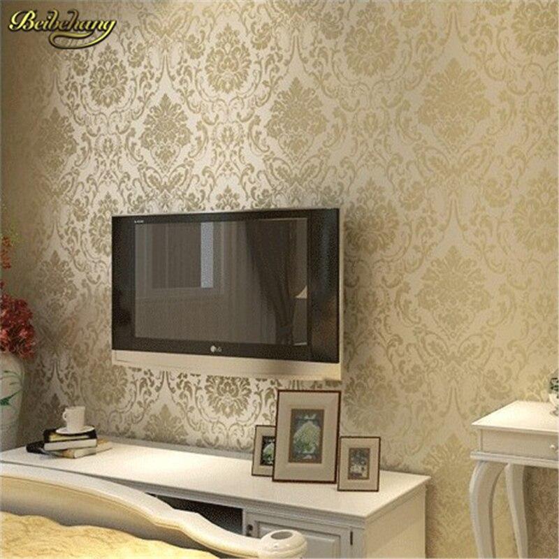 beibehang Continental throwing room living room backdrop environmental non-woven wallpaper papel de parede  wallpaper wall paper