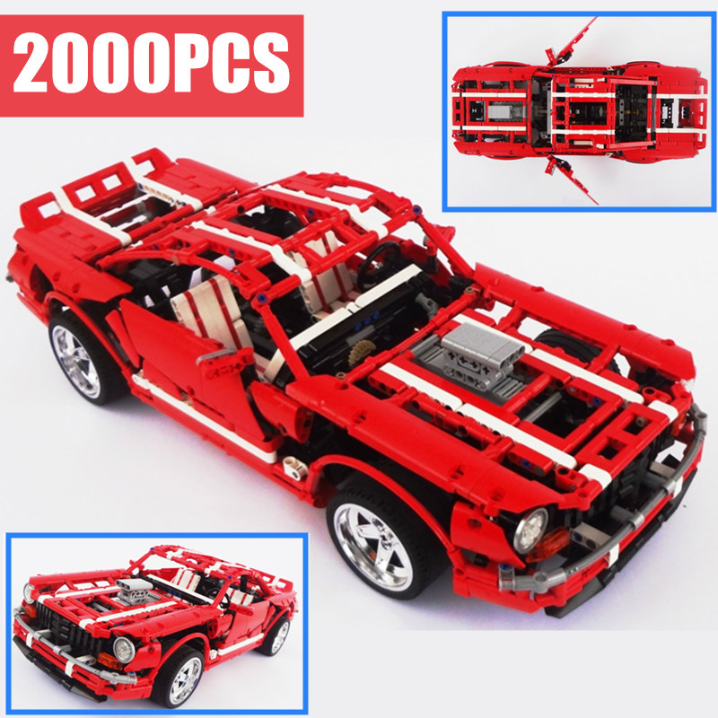 New 2000PCS Technic series creator Creative MOC fit legoings technic Ford mustang Muscle Car Building Blocks Bricks ToysNew 2000PCS Technic series creator Creative MOC fit legoings technic Ford mustang Muscle Car Building Blocks Bricks Toys