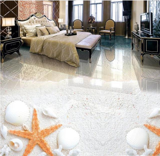 Us 59 99 Wasserdichte Kuche Tapete 3d Boden Malerei Strand 3d Tapete Wohnzimmer 3d Boden Vinyl 3d Stereoskopische Tapete Boden In Wasserdichte