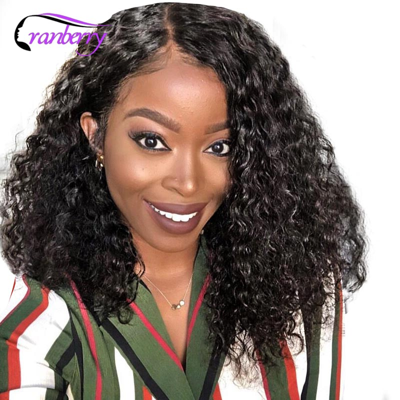Cranberry 13X4 Lace Front Wig Bob Lace Front Wigs Brazilian Hair Deep Wave Lace Front Wig