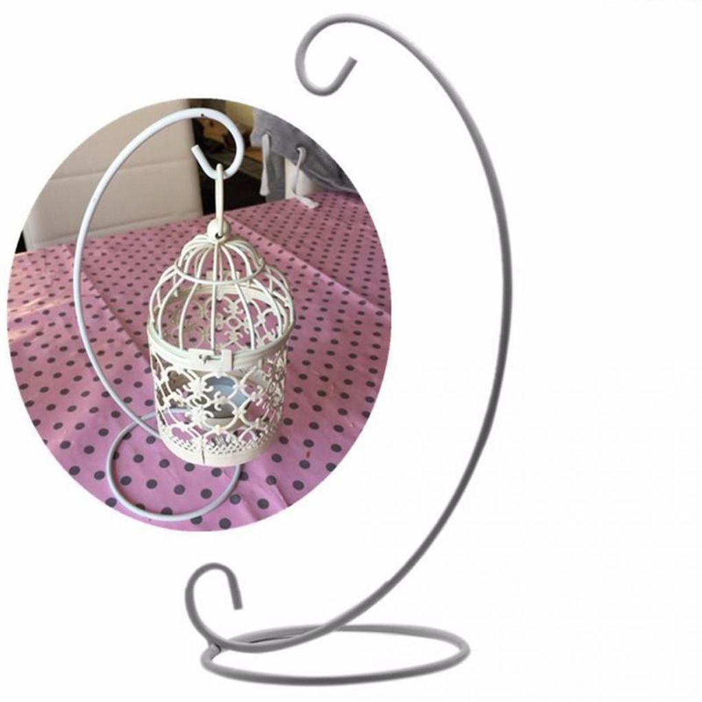 Beauty Retro Glass Ball Hanging Stand Candle Holder Wedding Iron Art Home Decoration Rack