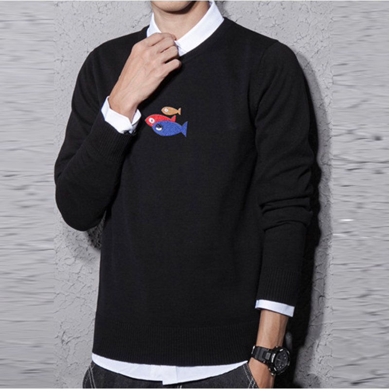 Wholesale font b Men b font Spring Autumn font b Sweater b font 0 Neck Casual