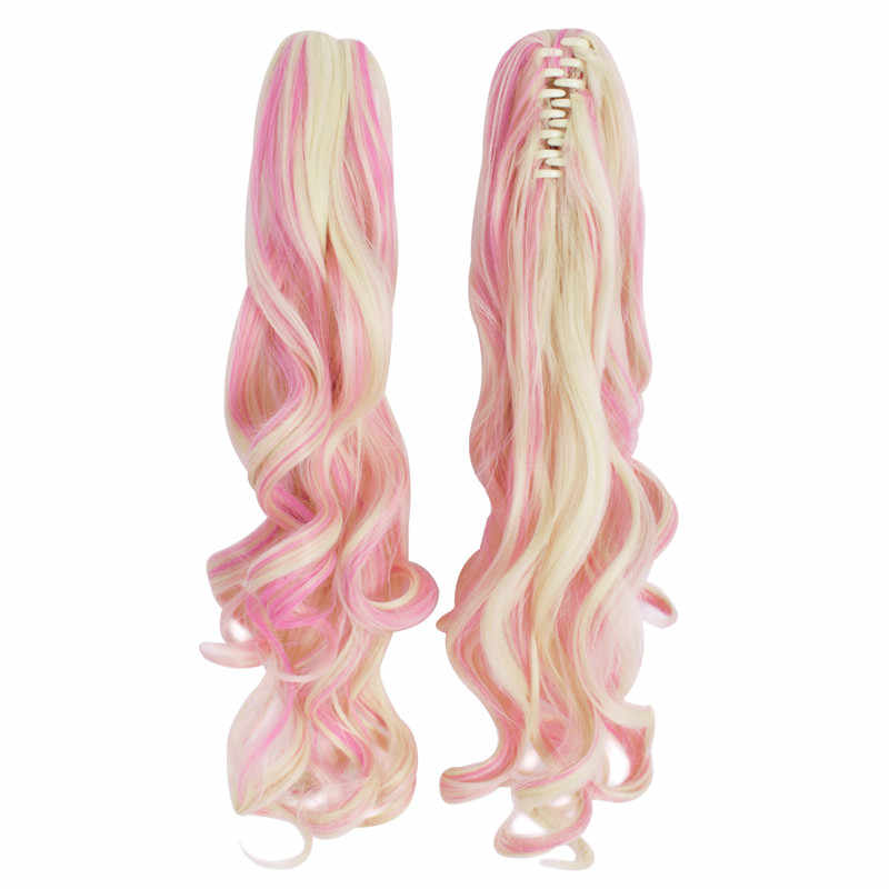 MapofBeauty Long Wavy Cosplay Wig Two Ponytails Purple Pink Ombre Hair 12Color Heat Resistant Wigs For Women Synthetic Hair