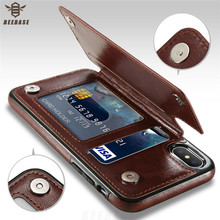 Leather Phone Bag Case For iphone 7 Case For iphone X Case Luxury retro Multi Card Holders Cover For iphone 6 6s 7 8 Plus fundas