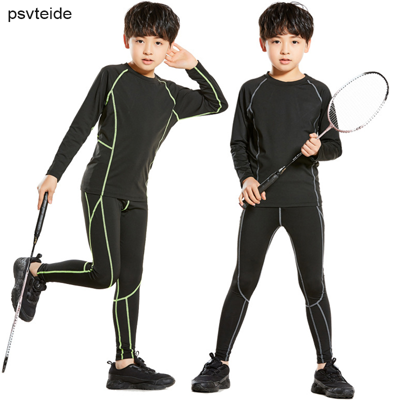 kids Sport Suits Boys Training Suit Boys Gymnastics Clothing kids  Compression Set Kids Basketball Sports Suits Soccer Training Running Sets   - AliExpress