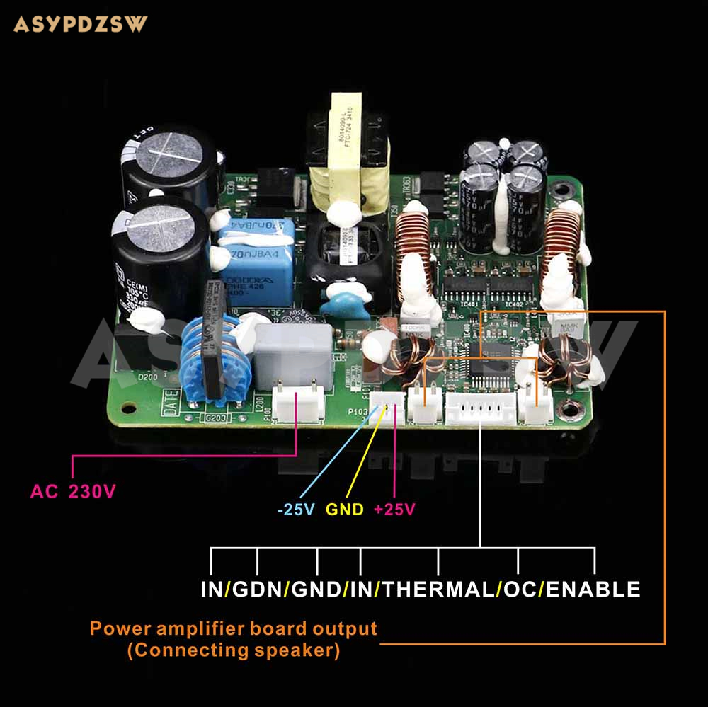 ICE50ASX2 Digital power amplifier finished board ICEPOWER amplifier module board