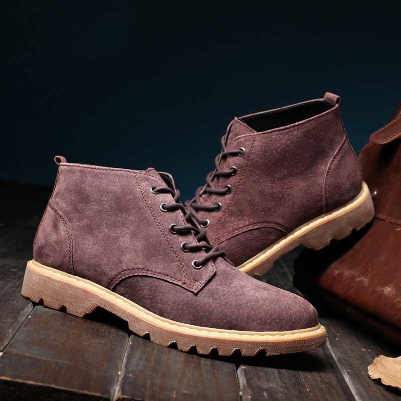 vino Calzado Casuales Grey marrón Gran 771 Zapatos De Dropship E Aceptar Tamaño Marca negro Nueva Hombres Tinto Invierno Los Masorini Otoño 38 Ww 48 Botas Bg0xqWP