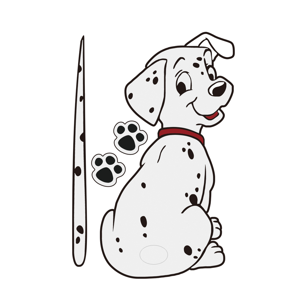 3D Car Stickers cute Dalmatian dog Moving Tail Stickers