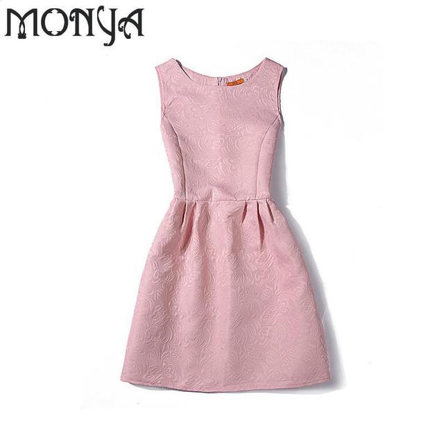 Monya Neue Einfarbig Sleeveless Jugendliche Kleider Für Mädchen ...