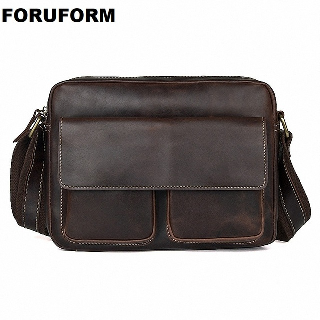 Messenger Bag Men Leather Shoulder Bags Men s Crossbody Bags Small Business  Briefcases Shoulder Genuine Leather Men Bag LI-2062 8beb22c401d08