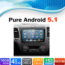 Pure Android 5.1.1 System Car DVD Player Auto Radio Autoradio Car Media Stereo for Kia K3 2012-2015