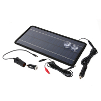 12V 8 5W Silicon Solar Panel Portable Monocrystalline Solar Battery Charger With Suckers Backflow Preventer For