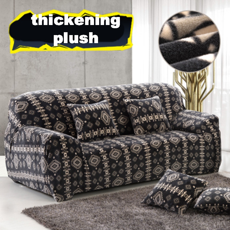 Flower Cushions Case Stretch Protector Fabric Slipcover Couch Solid  Universal Armchair Elastic Sofa Cover Print Furniture