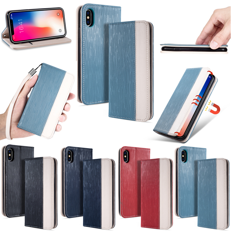 For iPhone X 10 8 7 6 6S Plus Case Flip Wallet PU Leather Card Slots Soft TPU Cover For Samsung S9 S8 Plus For Sony XZ2 Compact