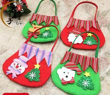 2016 New Year Chrismas Santa Claus Kids candy gift bags 4pcs/pack Handbag Pouch christmas gifts Sack Bag christmas decorations