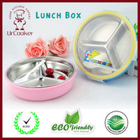 Durable Stainless Steel Lid Snack Tray Cute Cartoon Style Children S Lunch Box