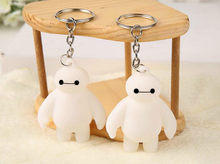 1 Pcs Big Hero 6 Key chain Toy Fat Balloon Man Doll dolls Baymax Toys Action Figure Kids Gifts White hot(China)