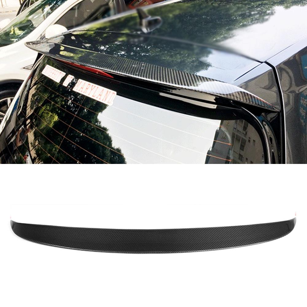 For VW MK7 Carbon Fiber Rear Roof Trunk Wing Spoiler for Volkswagen Golf 7 VII MK 7 GTI R 2014-2017 O Style Not Standard for vw golf gti 7 vii mk7 2014 2015 red lens led rear bumper reflector light lamp