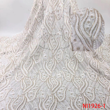 White Lace Fabric High Quality 3d Lace Fabric Bridal Lace Embroidery African French Lace Fabric For Nigerian 5yards NI1926