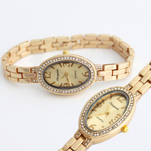 Dress Watches Ladies Rhinestone Quartz Stainless-Steel New-Fashion Luxury Brand Hot Reloj