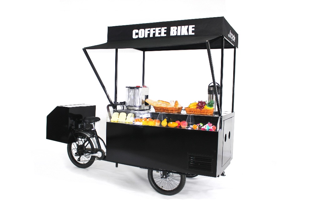 multi function electric/pedal hot sale coffee cart beer