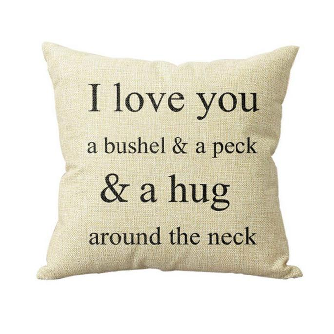 ISHOWTIENDA New 1PC 45*45cm I Love You A Bushel And A Peck Pillow Bed Home Pillow Case Pillow Cover