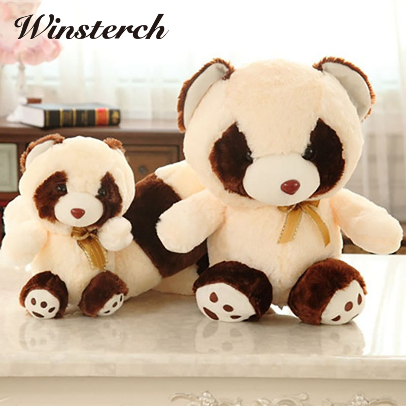 2017 High Quality Simulation Raccoon Plush Toys Stuffed Animal Toy Soft Raccoons Plush Dolls&stuffed toys Kids Toys Gifts WW128 30cm mickey mouse and minnie mouse toys soft toy stuffed animals plush toy dolls