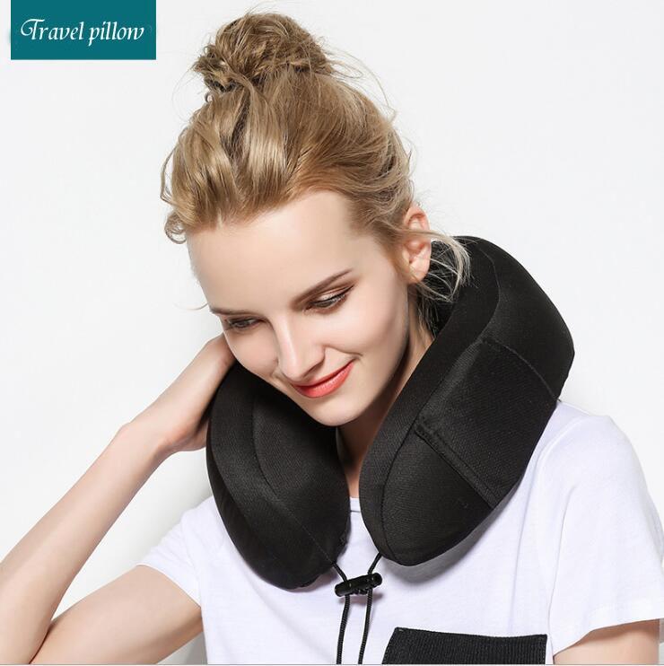 cushion sku inflatable sleeping chin train airplane pillow p innovative neck support head travel gray
