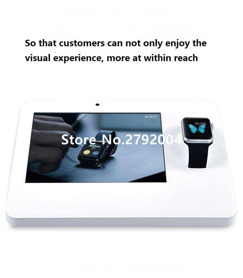 10 pcs/lot usine bonne qualité universel montre intelligente alarme présentoir pour expérience de magasin de téléphone mobile