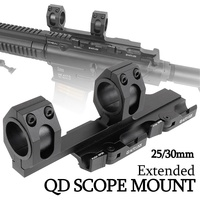 25mm 30mm Extended QD Auto Lock Airgun Rifle Scope Mount Bases Tactical Airsoft 20mm Weaver Picatinny Rail Hunting Accessories