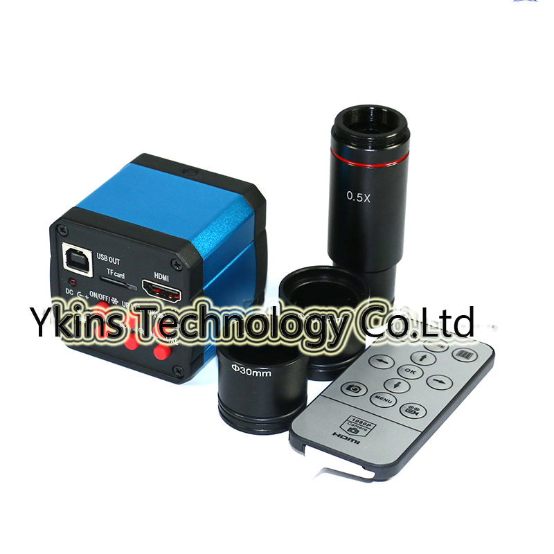 14MP CMOS HDMI USB Electronic Video Microscope Camera+CCD 0.5X Microscope Eyepiece C-Mount Lens for 23.2mm+30mmm+30.5mm Ring 14mp cmos hdmi usb electronic video microscope camera ccd 0 5x microscope eyepiece c mount lens for 23 2mm 30mmm 30 5mm ring