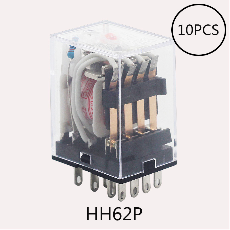 цена на 10PCS Coil Power Relay LY2NJ DC12V/DC24V/DC110V/AC220V Miniature Relay DPDT 8 Pins LY2 HH62P LY2 JQX-13F GOOD QUALITY