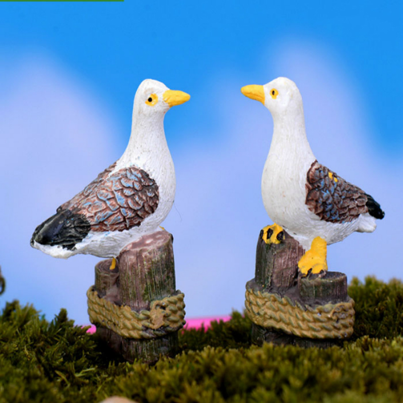 1 Pcs Hot Sale Sea Bird Seagull Stand Stump Miniature Fairy Garden Home Houses Decoration Mini Craft Micro Landscaping Decor Figurines Miniatures Aliexpress