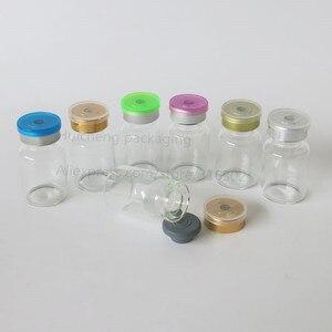 Image 2 - Leere 10ML Klar Injection Glas Fläschchen mit Kunststoff Aluminium Kappe 10CC Transparente Flüssigkeit Medizin Glas Container