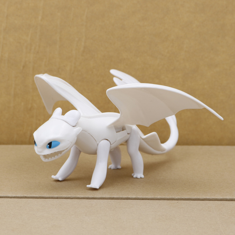 Action-Figure-Toys Train Toothless Light-Fury Your Dragon Birthday-Gifts for Children's