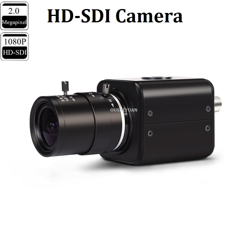 CCTV Industrial HD SDI 2.0MP 1080P Lens 2.8 12mm HD SDI Security Box Mini SDI Camera-in Surveillance Cameras from Security & Protection    1
