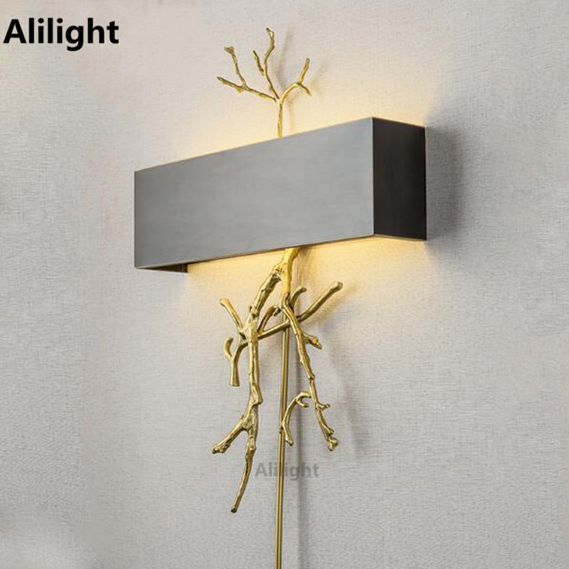 modern wall lamps for bedroom simple modern copper wall lamp led wall lights living 19294