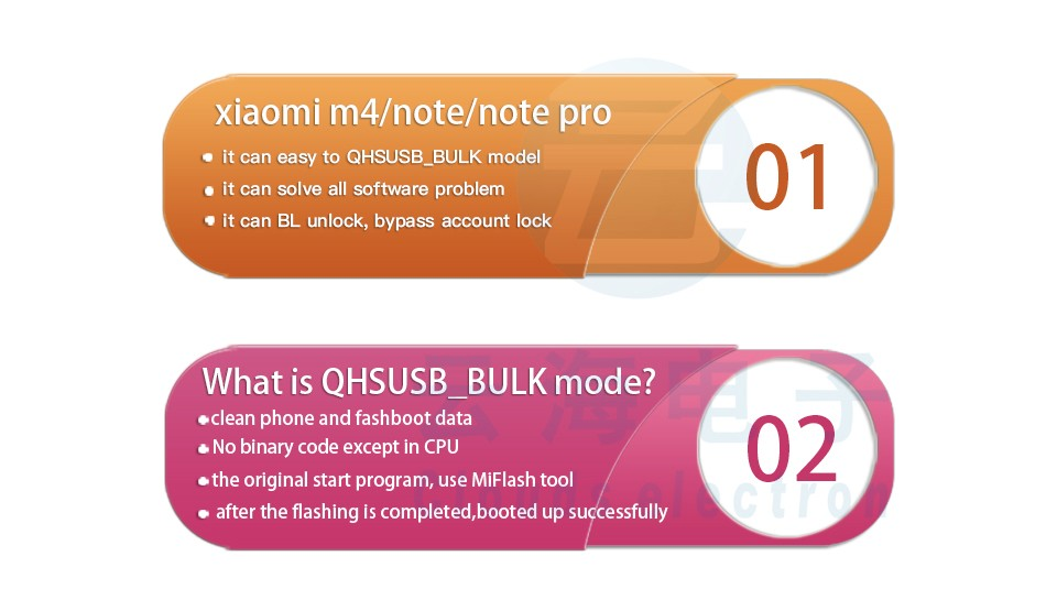 ZXW xiaomi m4/note/note pro EASY TO QHSUSB_BULK MODE TOOL