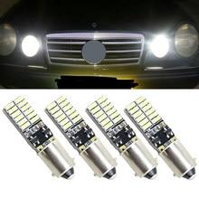 Source de lumière latérale pour parking, 4 pièces, T11 BA9S T4W H6W 363 1445 17053 182 blanc 24 LED 4014 SMD, ampoule de voiture 12V