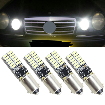 4pcs T11 BA9S T4W H6W 363 1445 17053 182 White 24 LED 4014 SMD Car Wedge Side Light Lamp Bulb 12V parking Light source 10pcs t11 ba9s 5050 5 smd led white light bulb car light source car 12v lamp t4w 3886x h6w 363 high quality