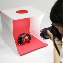 30cm Portable Foldable Softbox Mini LED Light Room Tent with EVA 4pcs Photo Backdrop for Studio Shooting Photography Canon Nikon