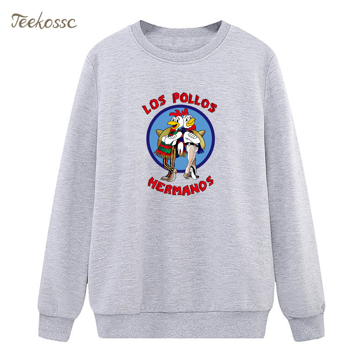 Breaking Bad Sweatshirt Print LOS POLLOS Hermanos Hoodie Winter Autumn Women Lasdies Pullover Fleece Chicken Brothers Streetwear